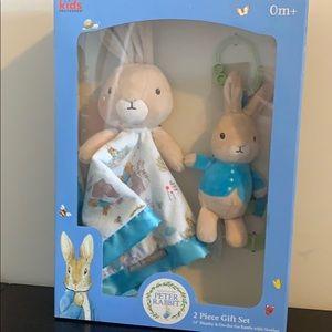 Peter Rabbit Beatrix Potter 2 Piece Gift Set New